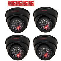VideoSecu 4 Pack Dome Dummy Fake Infrared IR CCTV