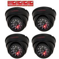 VideoSecu 4 Pack Dome Dummy Fake Infrared IR CCTV