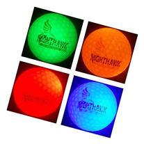 4 Nighthawk Glow In Dark LED Light Up Golf Balls Official