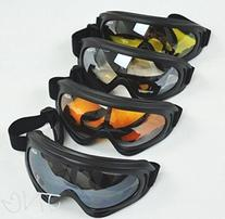 4 Goggles / Lot - Black + Clear + Amber + Yellow Multi Use