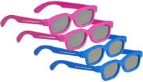 4 pairs - Childrens Passive 3D Glasses for Kids Genuine
