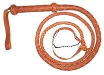 6 Foot 4 Plait TAN REAL Leather BULLWHIP bull whip