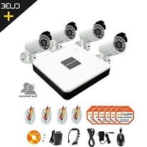 LaView 4 Camera Security System, 4 Channel Compact DVR w/