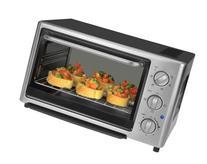Kalorik 1500-Watt 4-Slice Toaster Oven, Black/Stainless