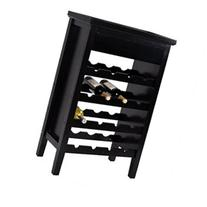 Costway 4 Tiers 16 Bottle Wood Wine Rack Storage Display