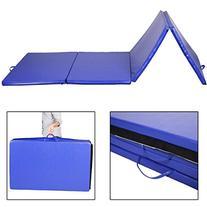 "Giantex 4'x10'x2"" Folding Gymnastics Gym Exercise Mats Blue"