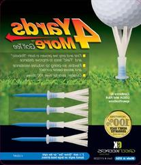 "4 More Yards Plastic Golf Tees - 3 1/4"" - Blue"