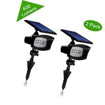 Solar Powered Led Spotlight 2 in1 Installation 8 Enhanced