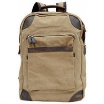 Gootium 40589KA Canvas Leather Laptop Backpack Rucksack