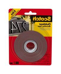 Scotch 411-MEDIUM Outdoor Mounting Tape, 1 by 175-Inch,