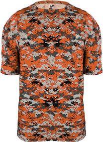 4180 Badger Men's Short Sleeve Sublimated Camo Tee - Burnt