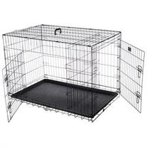 Pet Trex 42 Folding Pet Crate Kennel Wire Cage for Dogs,