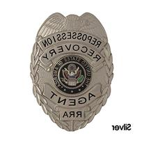 435 Silver Repossession Recovery Agent Badge Set - Free