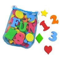 44 Piece Set Foam Bath Letters and Numbers With Bonus Shapes