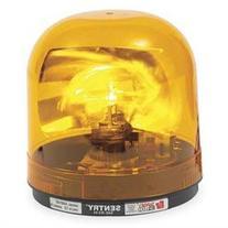 FEDERAL SIGNAL 448112-02 Revolving Warning Light, Amber