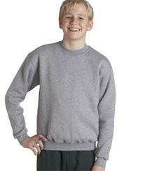 Jerzees Boys Super Sweats 50/50 Fleece Crew  -OXFORD -L