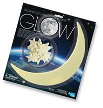 4M Glow In The Dark Large Moon and Stars