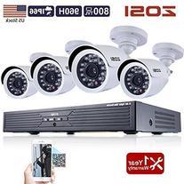 ZOSI CCTV Security System ,720P AHD DVR and 1280TVL