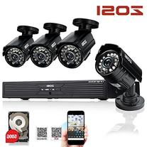 ZOSI 8-Channel HD 720P Video Security System DVR with 1TB