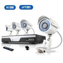 Zmodo KDC4-YARUZ4ZN 4-Channel H.264 960H DVR Security System