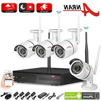 ANRAN 4CH NVR Wireless WiFi IP Network Security Camera