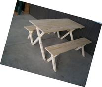 5 Foot Economy Picnic Table Naturally Unfinished with 2
