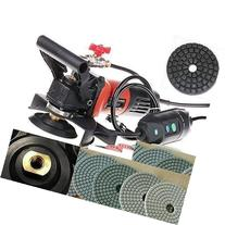 """5-Inch Variable Speed Wet Polisher and Grinder 5"""" Polishing"""