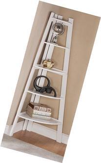 5 Tier Corner Display Unit Shelf / Rack - White