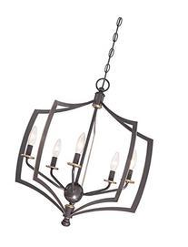 Minka Lavery 4375-579 5-Light Chandelier, Downton Bronze