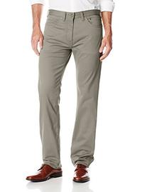 Dockers Men's Jean Cut Straight Fit Sateen Pant, Concrete/