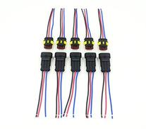 CrazyEve 5 Sets 3 Pin Good Quality Car Waterproof Electrical