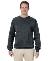 Jerzees 562 50/50 Crew Neck - Black Heather - XL