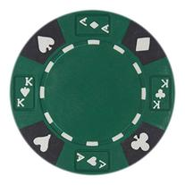 50 Green Ace King Suited Clay Composite 14 Gram Poker Chips