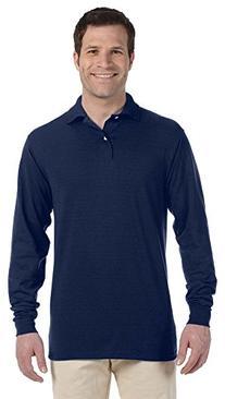 Jerzees 50/50 Long-Sleeve Jersey Polo with SpotShield,