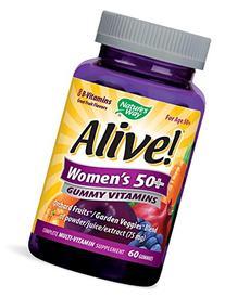 Alive Women's 50 & Over Multivitamin Chewable Gummies, 60