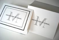 50 Personalized Note Cards with Initial Plus Full Name. 50
