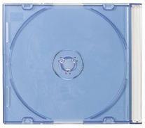 Mediaxpo Brand 50 SLIM BLUE Color CD Jewel Cases