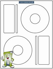 500 Memorex Compatible CD / DVD Labels. Large Core Center