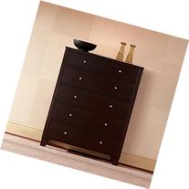500 Series 5 Drawer Chest in Cappuccino
