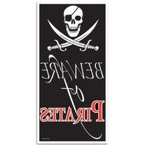 Beistle 50008 Beware of Pirates Door Cover, 30-Inch by 5-