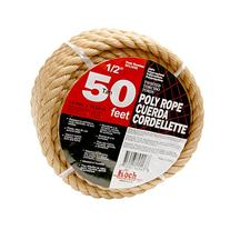 Koch 5011635 Twisted Polypropylene Rope,  1/2 by 50 Feet,