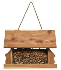 Perky-Pet 50153 The Lodge Cedar Feeder, 8 lb capacity