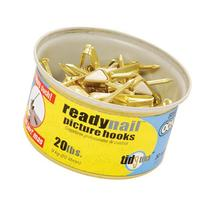 OOK 50607 ReadyNail Conventional Brass Picture Hook Tidy Tin