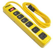Yellow Jacket 5139N Metal Power Strip with 6-Foot Cord, 6-