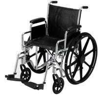 "NOVA Medical Products 16"" Steel Wheelchair w/Detachable Desk"