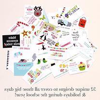 Sprinkled Joy 52 Designer Lunchbox Notes Holiday