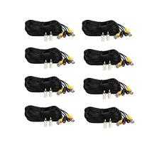 VideoSecu 8 Pack 50ft Feet BNC RCA Video Power Cables