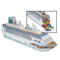 """Beistle 54436 Cruise Ship Centerpiece, 13-1/4"""", Multicolor"""
