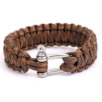 550 Parachute Cord Military Survival Bracelets Stainless