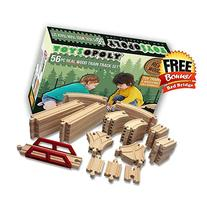 NEW 56 Wooden Train Track Pack Set. Wood Thomas Brio